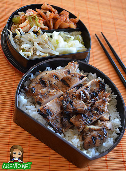korean bbq chicken bento addicted to sushi. Black Bedroom Furniture Sets. Home Design Ideas