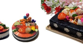 Web shop of Sushi cake