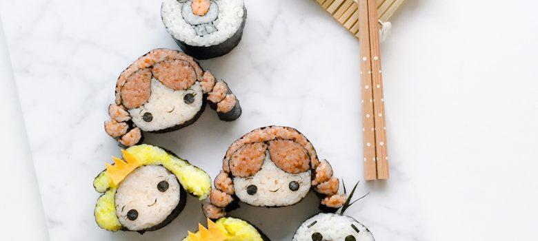 Tsum Tsum Sushi Roll - Little Miss Bento