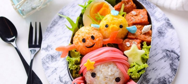Little Mermaid Tsum Tsum Bento