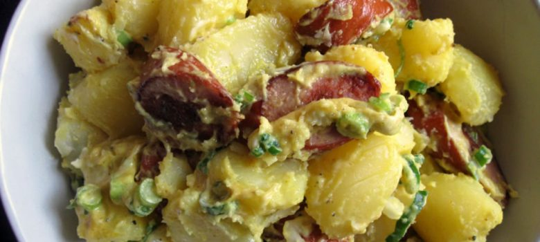 Curry Flavoured Potatoes & German Sausage Salad