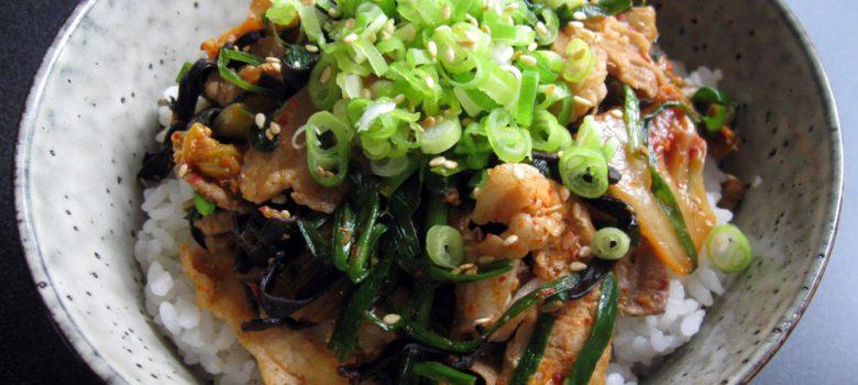 Pork & Kimchi Rice Bowl