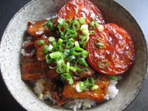 Curry Flavoured Pork & Tomato Rice Bowl
