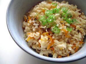 Abura-age & Carrot Takikomigohan – Hiroko's Recipes