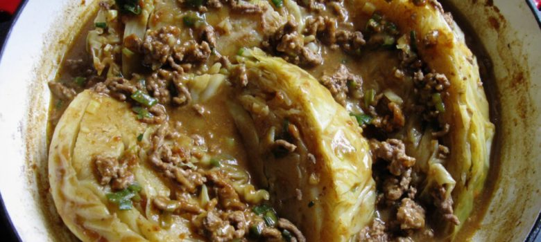 Curry Flavoured Stewed Cabbage & Beef Mince – Hiroko's Recipes