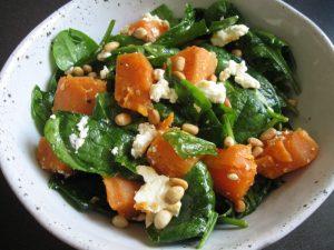 Spinach, Sweet Potato & Fetta Salad – Hiroko's Recipes