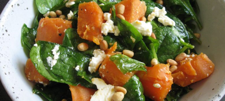 Spinach, Sweet Potato & Fetta Salad – Hiroko's Recipes